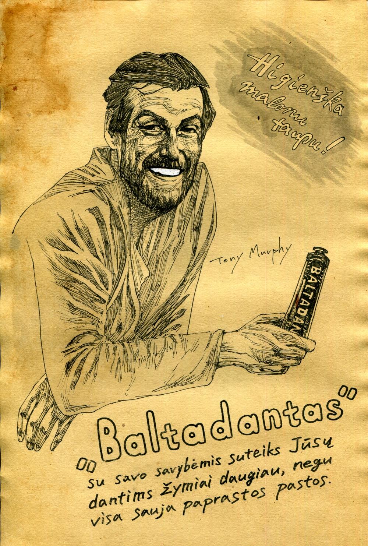 Baltadantas - Vilnius paste up Jan 17